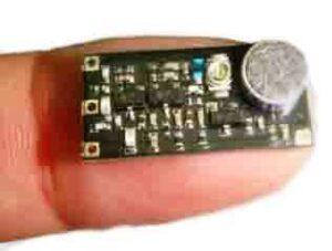 rilevazione microspie: una microspia microfonica