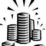 pila di monete a simboleggiare i costi di un investigatore privato