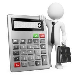 Investigatore privato napoli quanto costa - rappresentazione di un investigatore con valigetta e calcolatrice