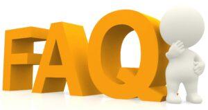 sigla FAQ con un investigatore stilizzato che risponde alle domande
